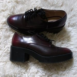 Zara Trauflic Oxford Heeled Shoes Size 7